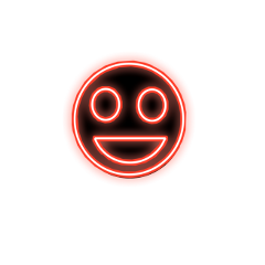 happy happiness red neon face freetoedit ftestickers