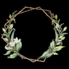 freetoedit wreath daisy leaf geometric