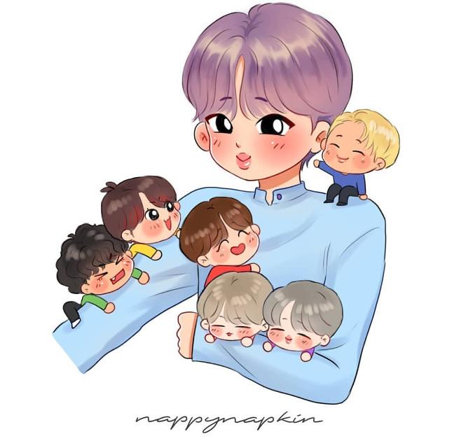 Awwwww😭 I saw this art for Jin's birthday in Instagram😍 Aaaaaaa, so cuuuuuteeeee😭😭😭😍😍😍💗💗💗
