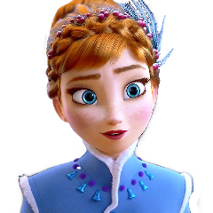 frozen anna princess blue disney freetoedit