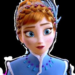 frozen anna princess blue disney freetoedit