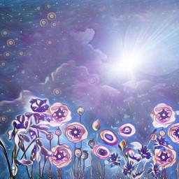 freetoedit sfghandmade moonlight moon midnightblue scenery