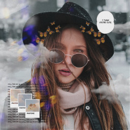 freetoedit girl hipster chic winter