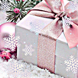 freetoedit gift present snow snowflakes