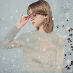 freetoedit winter edit sparkles model