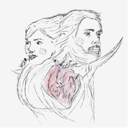 hearts heartbroken dualidad illustration draw