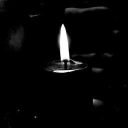 freetoedit blackandwhite candle myphoto myhand