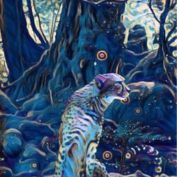 freetoedit cheetah nigthsky jungle
