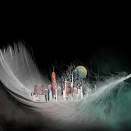 freetoedit negativeeffect tinyworld cityscape feather