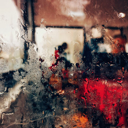 raindrops red abstract