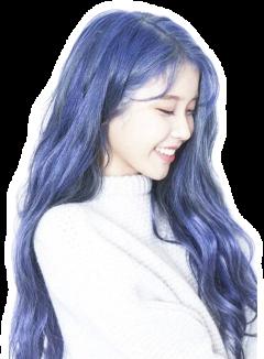 iu bluehair iublue blue blueiu freetoedit