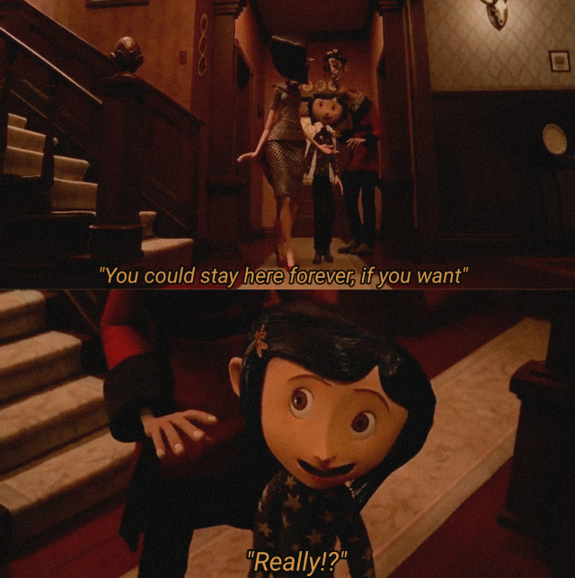Coraline edit 💕 #coraline #movie #quote #moviequote #coralinemovie #coralinequote #dark #spooky #aesthetic #edit #aesthetics #retro #vintage #text #mystery #buttons #horror #darkcomedy #favourite #girl #mother #monster