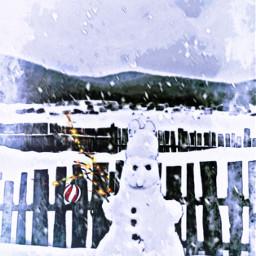 vipshoutout winter snowman snow fxeffects freetoedit
