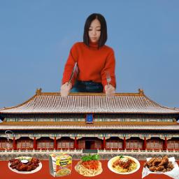 mysticker foodstickers noodles friedrice friedchicken