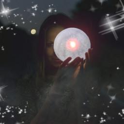 freetoedit moon contest remixit girl