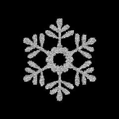 snowflake snow glitter silver freetoedit