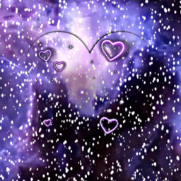 freetoedit purple hearts smoke background