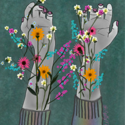 stampeffect stamp flowers imgrowing hands