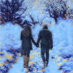 vipshoutout winter winterbluesmagiceffect couple love freetoedit