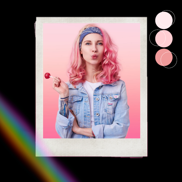 #pink #rainbow
