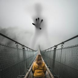 freetoedit girl bridge shadow hand