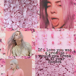 freetoedit billieeilish aestetic pink idontwannabeyouanymore