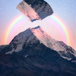 freetoedit rainbow mountain surreal tools