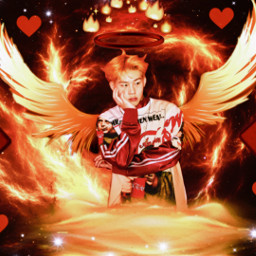jooheon monstax fire aesthetic kpop freetoedit