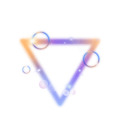 ftestickers triangle neon luminous aesthetic freetoedit