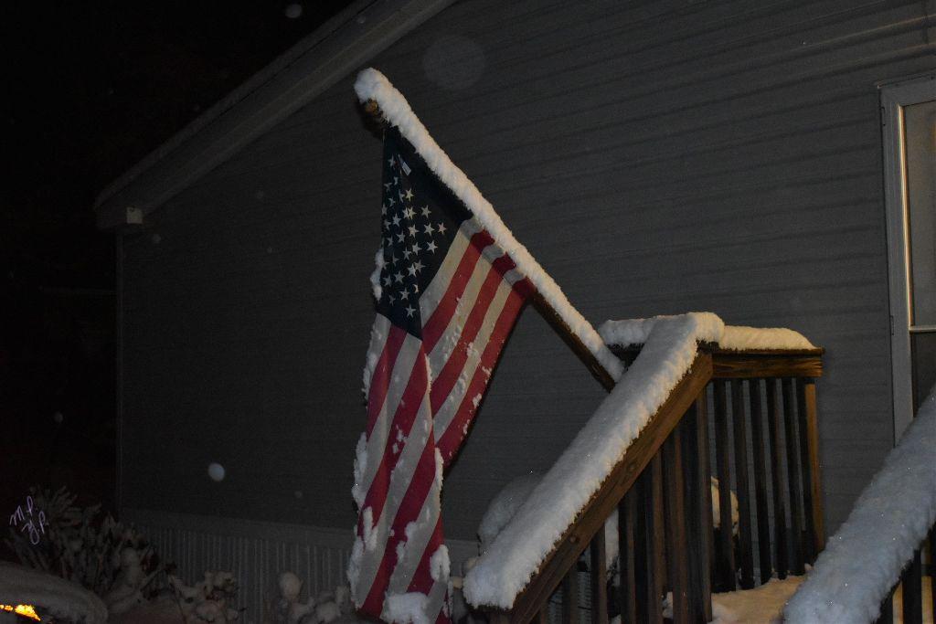 #noremix #notfreetoedit #photography #interesting #nature #naturephotography #NY #flag #night #dark #snow  #white  #interesting