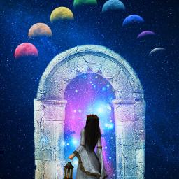freetoedit fantasyart woman portal surreal
