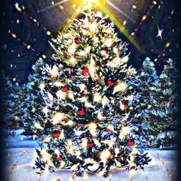 freetoedit christmas tree lights maskeffect