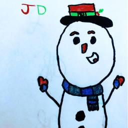 interesting freetoedit snow snowman art