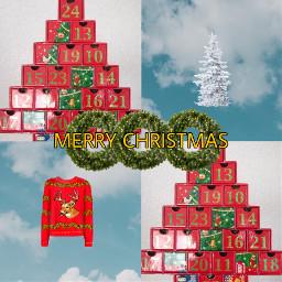 xmas christmas tree wreath knit freetoedit ccwintermoodboard wintermoodboard