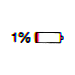 glitch battery emoji aesthetic tumblr freetoedit
