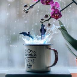 coffee artist surreal manipulation visual freetoedit