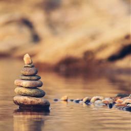 shallowwaters stackingstones reflectionsonwater patienceisavirtue warmlight freetoedit