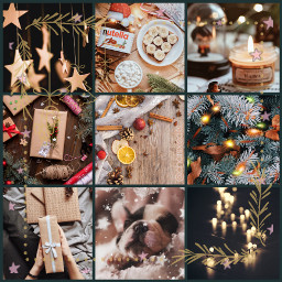 freetoedit christmas collage fairylights xmas ccwintermoodboard wintermoodboard