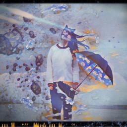 umbrellagirl freetoedit ircwindyportrait windyportrait