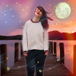 freetoedit woman standing pier windy ircwindyportrait windyportrait