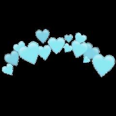 heartjoon blue heartcrown freetoedit