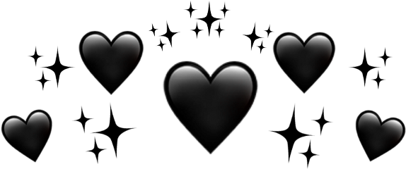 blackaesthetic aesthetic heartcrown emojicrown freetoedit