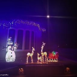 christmas christmaslights snowman reindeer sleigh
