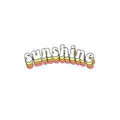freetoedit sunshine groovy sticker white