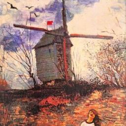 freetoedit vangogh remixedwithpicsart windmill ircwindyportrait windyportrait