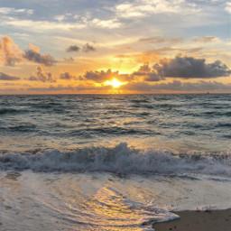 море солнце закат рассвет свет