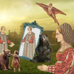 freetoedit surreal medieval mirror icarus