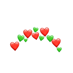 heart crown christmas red green freetoedit
