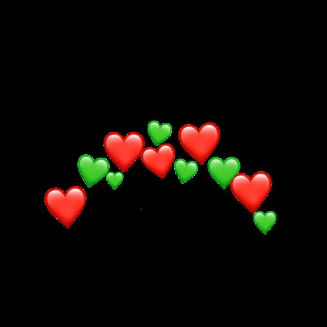 Christmas crown heart #heart #crown #christmas #red #green #honeycloudemojicrowns #freetoedit