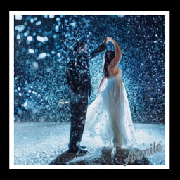 freetoedit @asweetsmile1 winter snow marriage